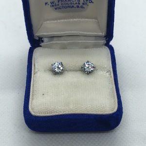 💛 925 Big CZ Earrings